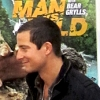 Kristen interviewing Bear Grylls from Man vs Wild