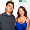 Kristen Nedopak and Dennis Tzeng arrive at the San Diego Comic Con Action Chick Launch Party July 21, 2011.