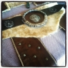 Little sewing, duct tape, paint and stain and we have a Skyrim belt