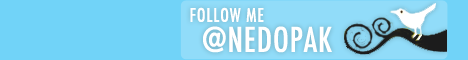 Follow me on Twitter @Nedopak