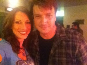 My crappy iPhone pic of me and Fillion!